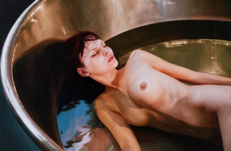 Nickel Tub, Cynthia Westwood, 2013. Oil on canvas, 105 x 160 cm