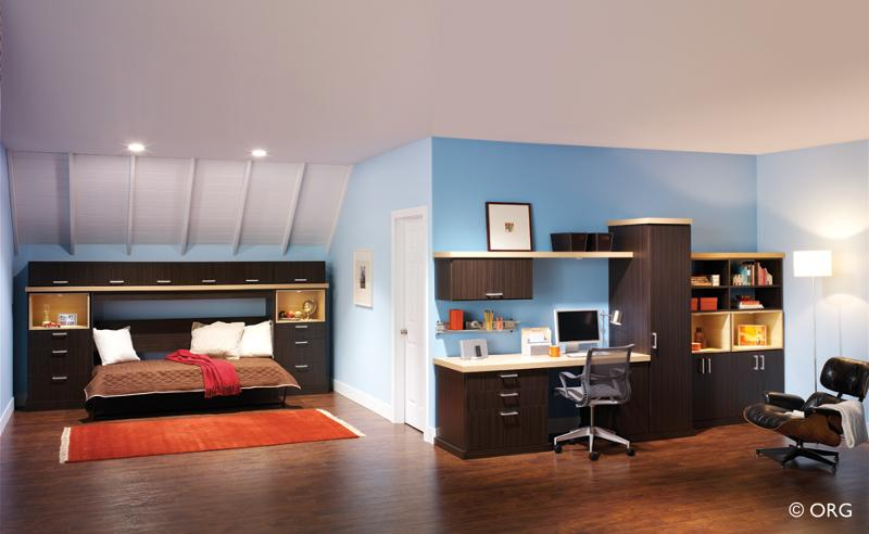 ORG Home side tilt wallbed and office system