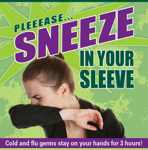 Sneeze in your sleeve