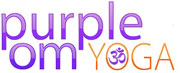 Purple om Yoga