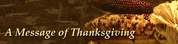 A Message of Thanksgiving