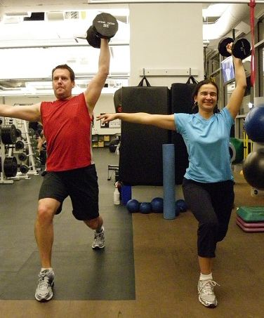David & Luisa training