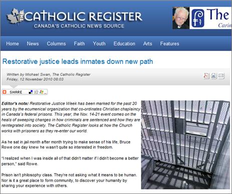 Catholic register RJ article