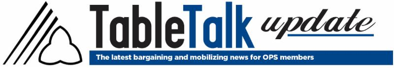Table Talk Newsletter Update