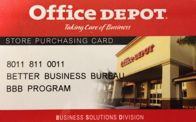 office depot card