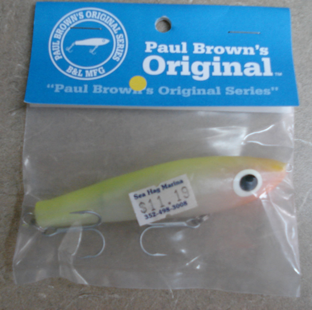 Paul Brown Original have been the hot lures for redfish_ trout_ and Spanish mackerel_