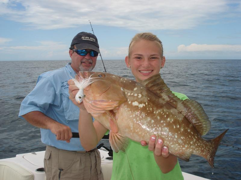 Chaeli red grouper