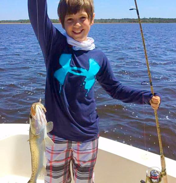Andy Phillip_s grandson_ Nick_ also caught his first trout.