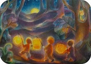 lantern walk painting