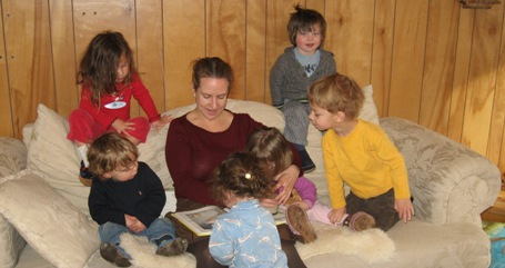 Faith reading with children