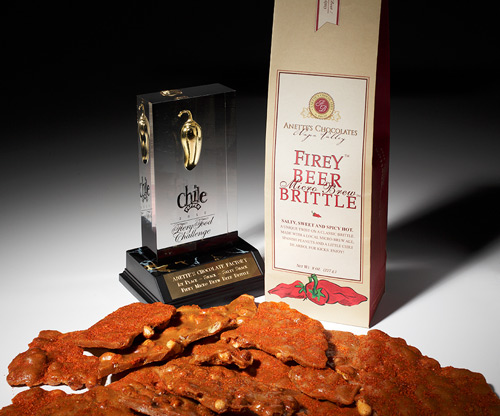 Chile pepper beer brittle