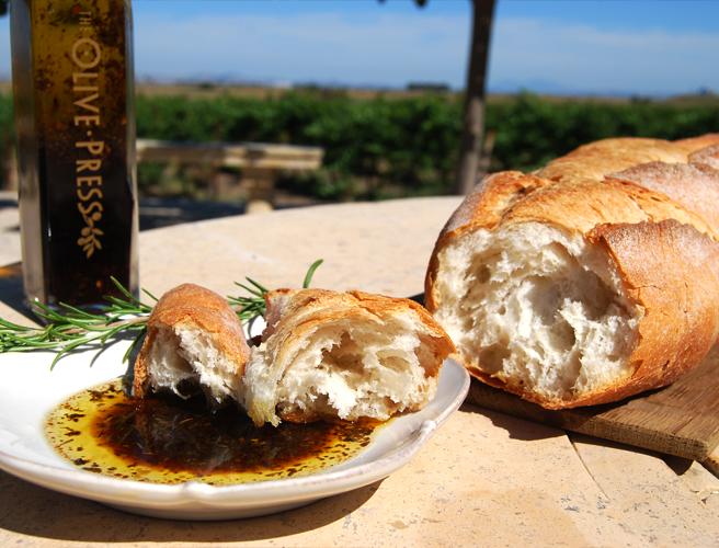 Olive Press bread oil vinegar
