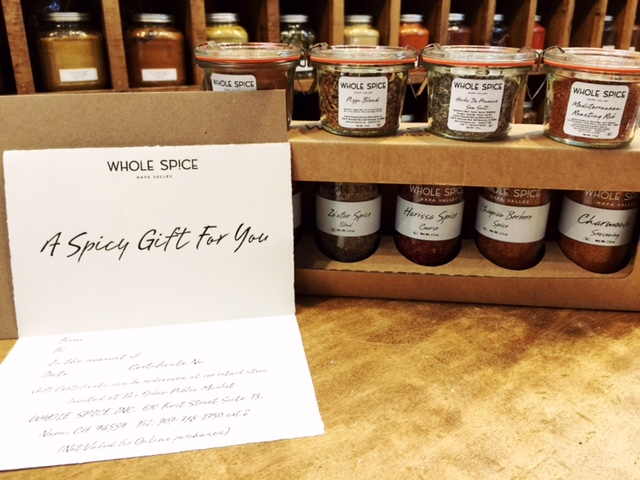 Whole Spice Gift card