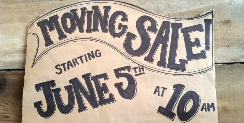 Poor House moving sale