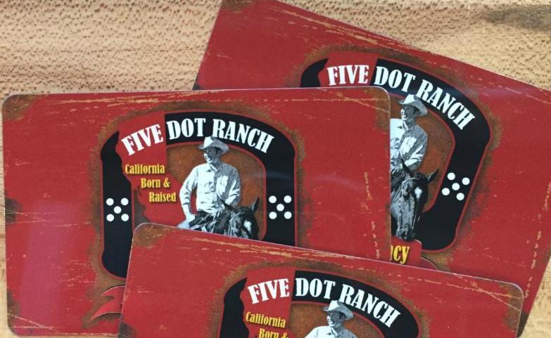 Five Dot gift card