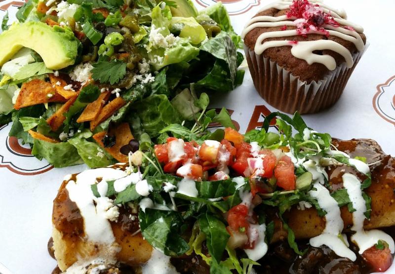 December enchilada plate
