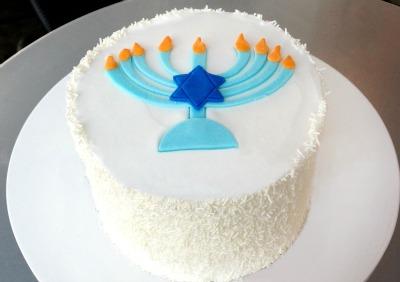 Kara's Hanukkah cake