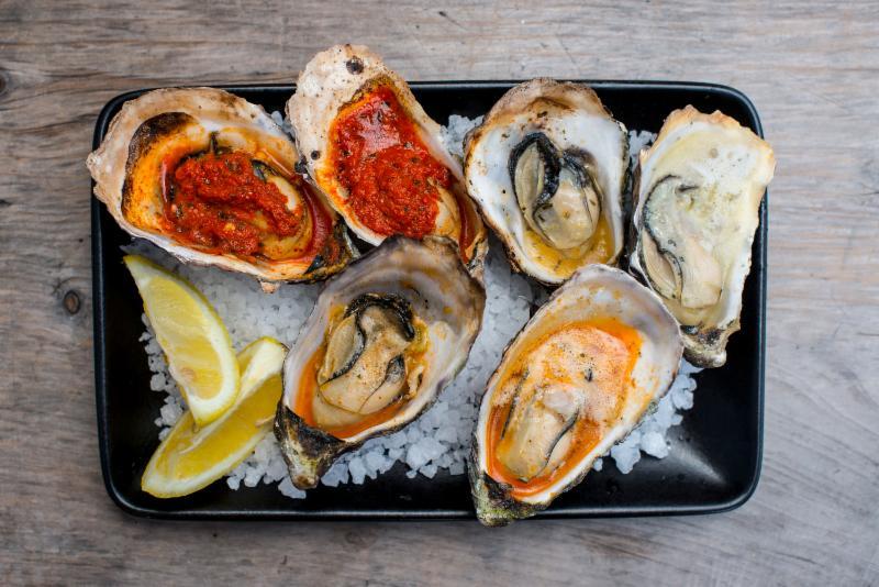 Hog Island BBQ oysters