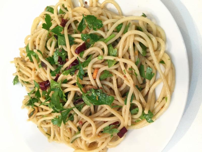 Spaghetti calabrian chili