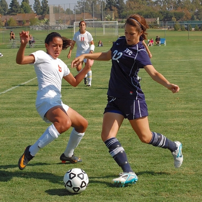 IVC women's soccer player Coley Joyce