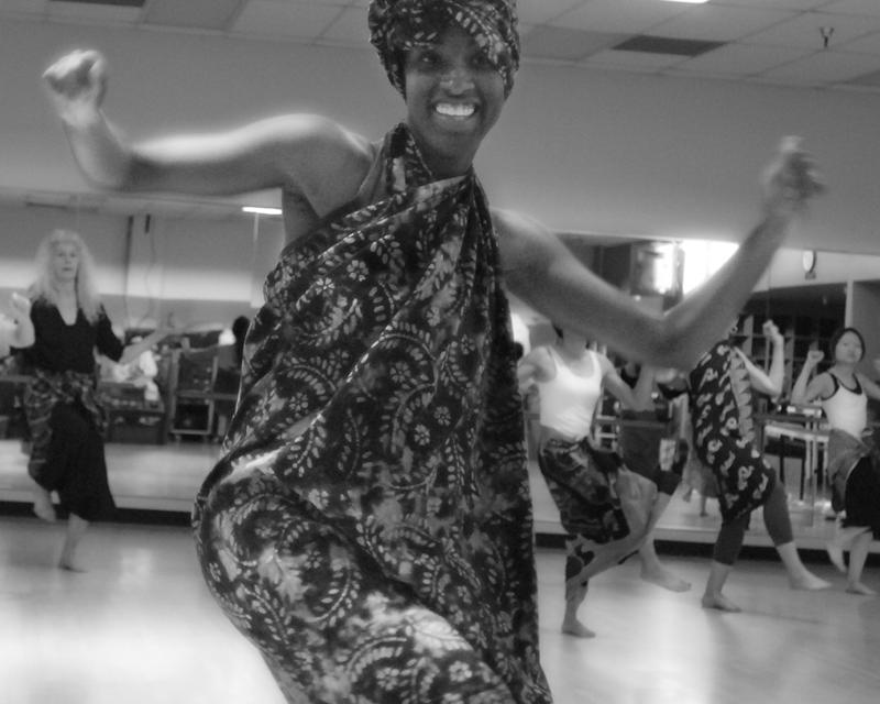 African dance instructor Monik C. Jones