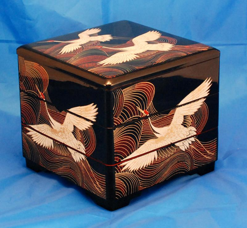 VB9070x-Black Lacquer Stacking Box