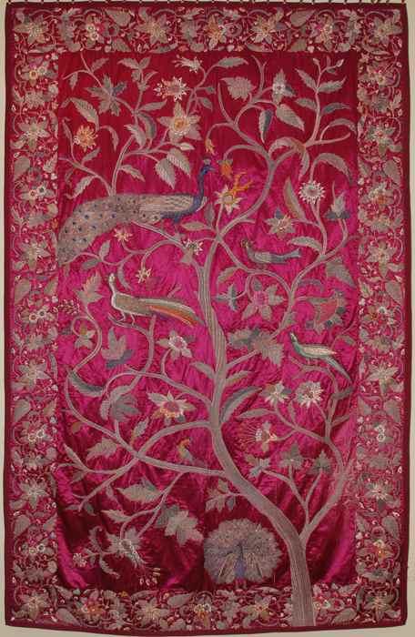Antique Asian Bedspread Textile