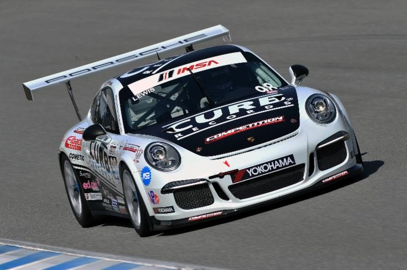 Michael Lewis won the Porsche GT3 Cup Challenge USA pole.