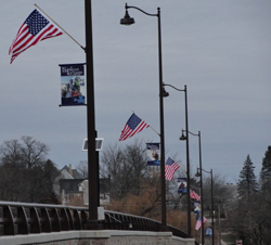 american flags wi bridge