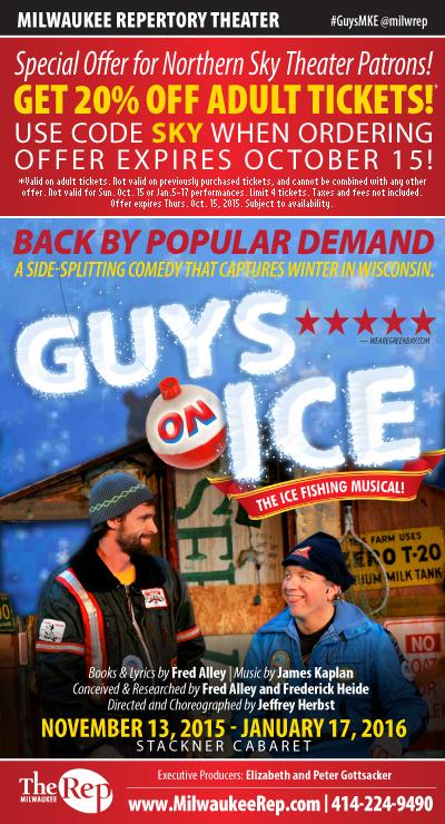 Guys On Ice at Milwaukee Rep November 13, 2015 thru January 17, 2016