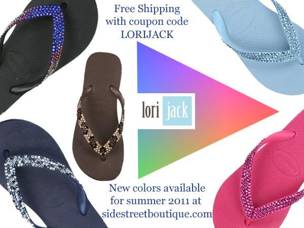 60dc6f6ea Free Shipping on Swarovski Crystal Havaianas by Lori Jack
