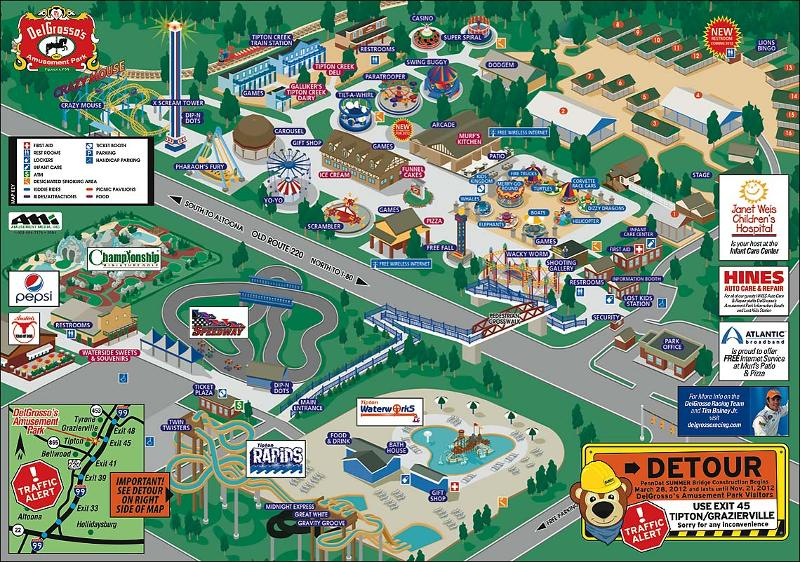 DelGrosso's Amusement Park 2012 map