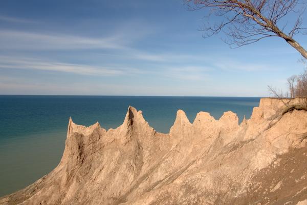 Chimney Bluffs by Dick Bennett