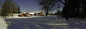 Snow on Jackson Road Farm by David P. Somers