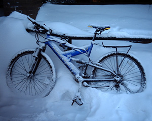 Frozen Bike by Thomas Barker
