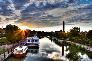 Fairport Sunset by Sarah Adkins