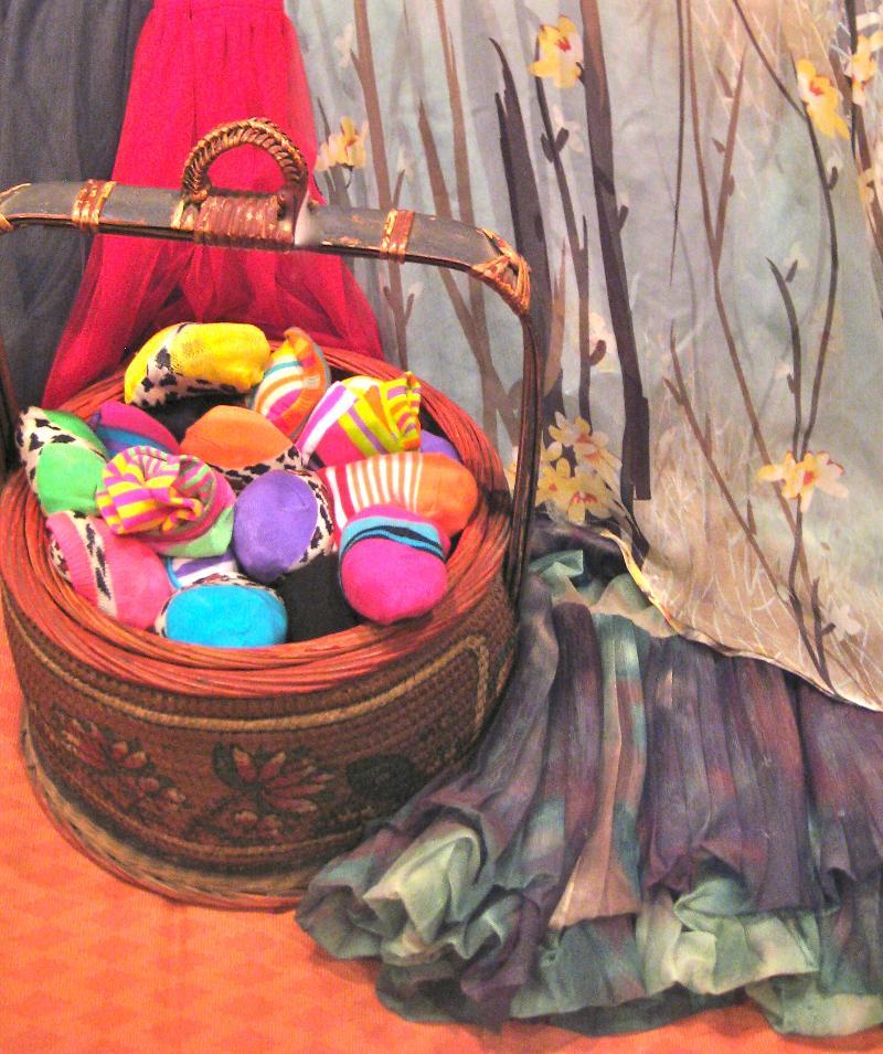 sock egg basket