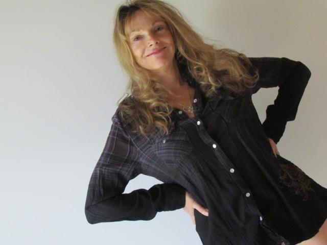 Devi cozy flannel/knit shirt