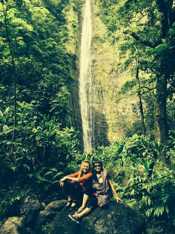 bamboo waterfall Maui