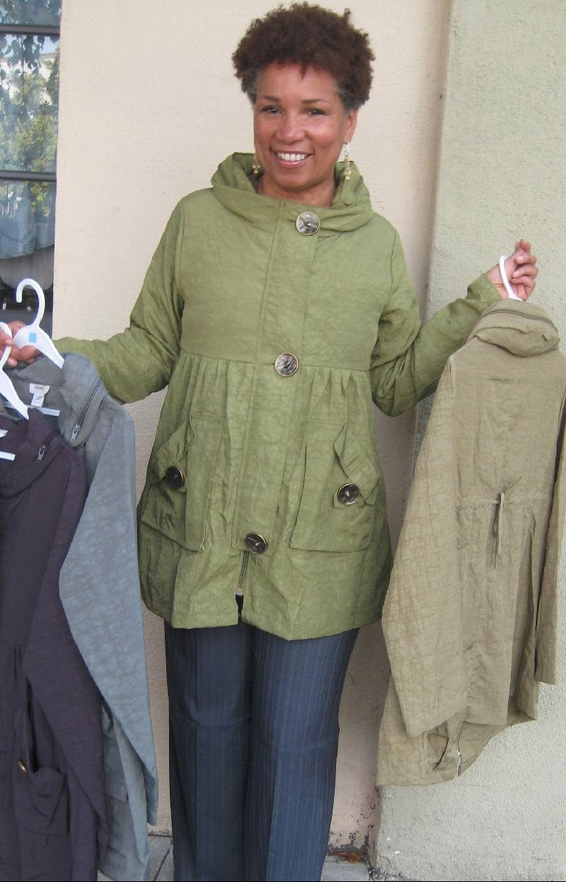 Amira in Rain Jacket