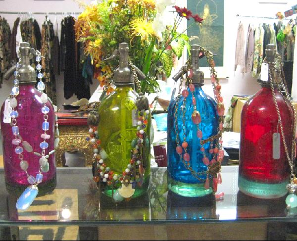 Argentine antique soda bottles