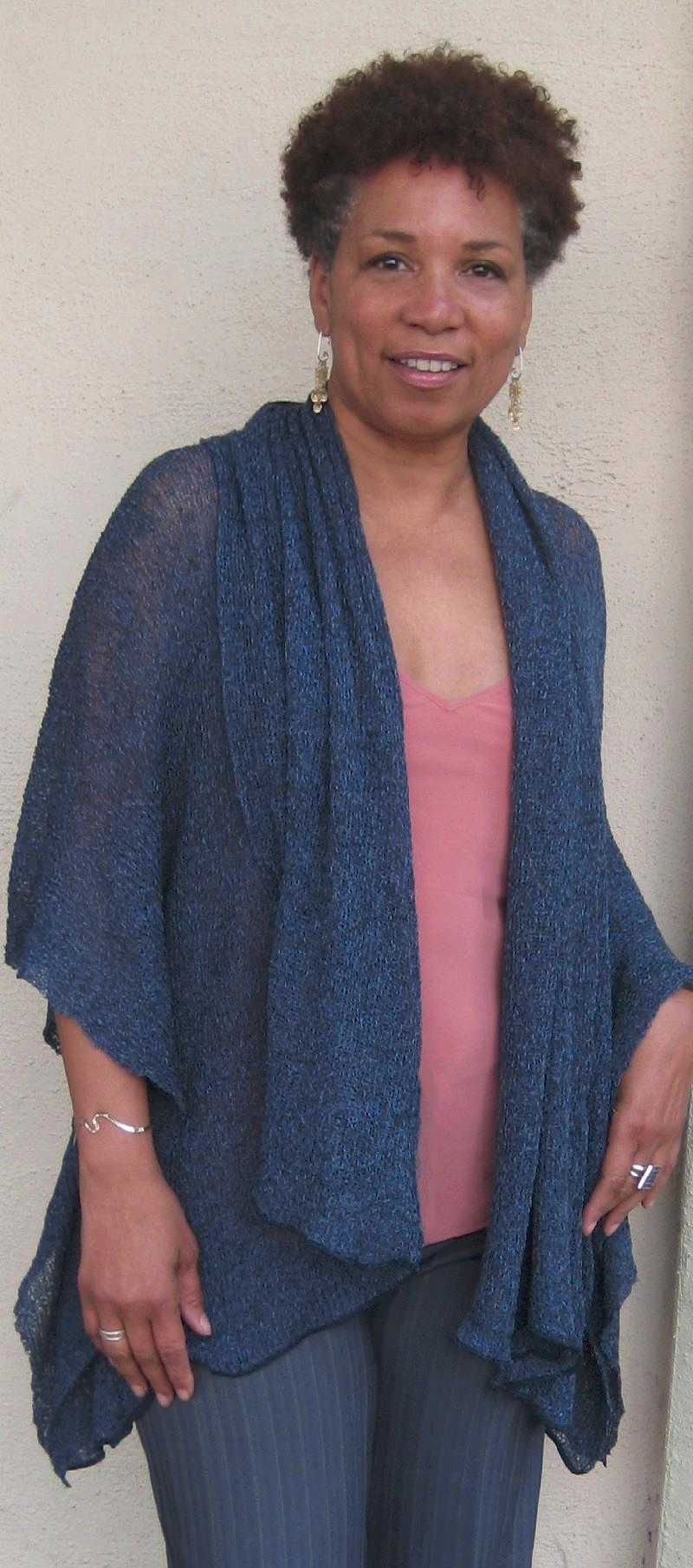 Amira in drape jacket