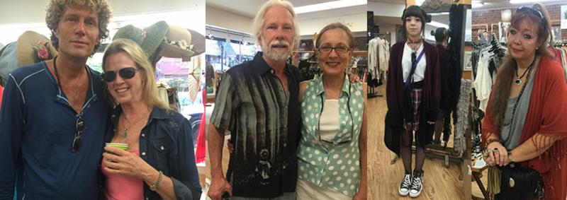 This handsome guy has 3 of these wool shirts (reg $128 our price $36!) It was almost 100 degrees and he said it kept him cool!! This next handsome guy in a Citron shirt. Then this totally cool daughter really rocking her style and her madonna mama!