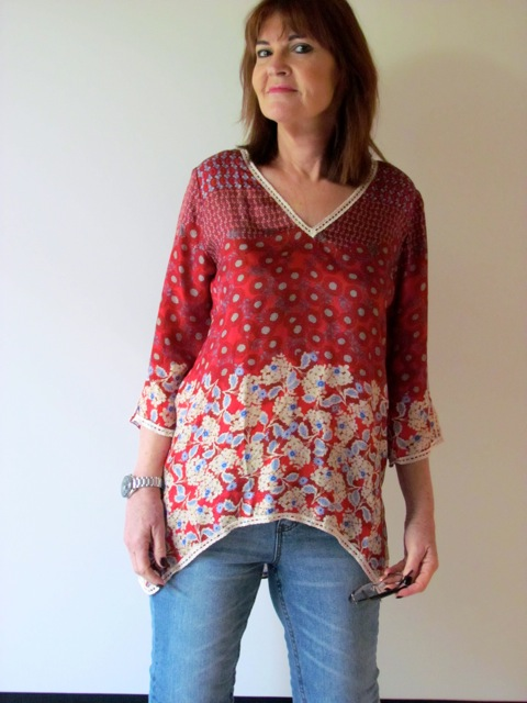 For Love & Liberty silk blouse