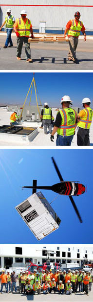 Additional images from helo lift