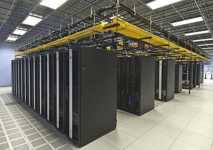 Racks of Servers in Data Center