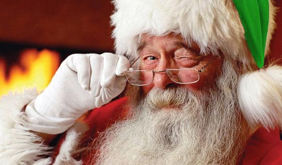 Santa with Twinkle in Eye