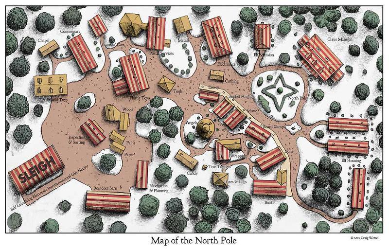 Santa's North Pole Campus Map