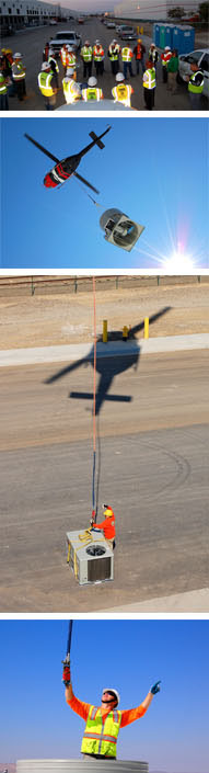 images from helo lift