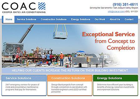 COAC Website Homepage Screenshot